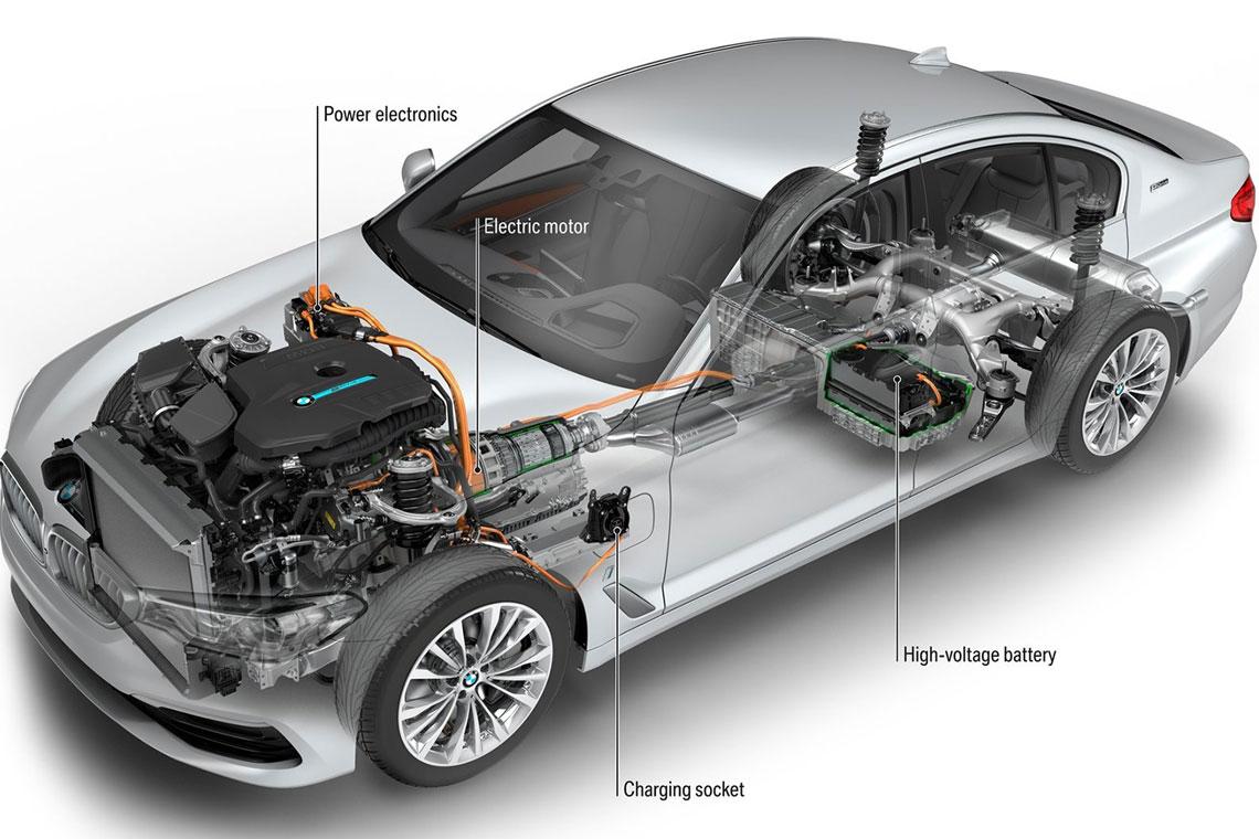BMW 530e iPerfomance - салон, интерьер